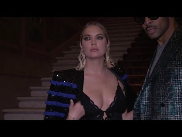 M Pokora, Zara Larsson, Ashley Benson and more at Balmain Fashion Show in Paris