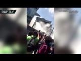 Момент обрушения торгового центра в Мексике попал на видео