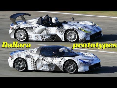 Dallara Stradale Test Mule Prototypes - 400hp Industry Pool driving fast on racetrack! -