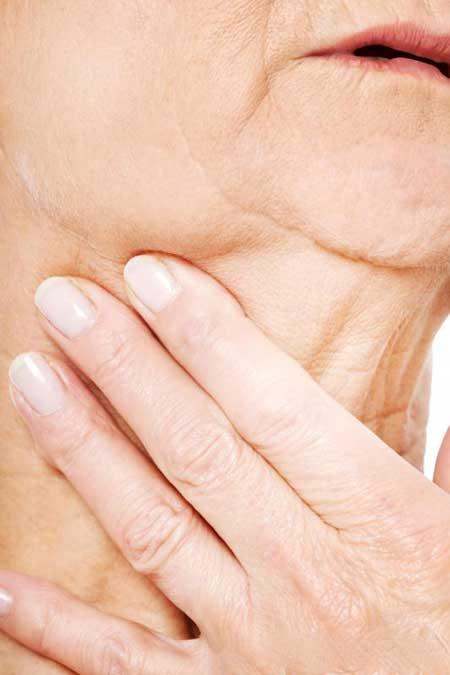 Проблемы с дыханием и глотанием могут быть симптомами рака горла.