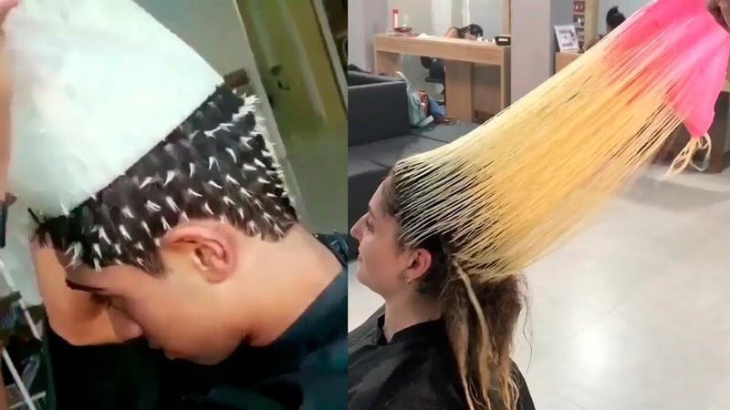 Профессиональные Стрижки Прически.Техника Окрашивания волос Омбре Шатуш Балаяж 2018🌈