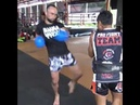 Anvar The Uzbek Boynazarov hitting pads with Kru Don