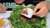ASMR FRIED CRICKETS WITH PEANUT &amp JUNGLE VEGETABLE Street Food &amp ASMR