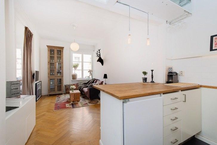 Квартира-студия 26 м на севере Европы.