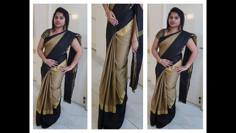 HOW TO DRAPE A SAREE TO LOOK SLIM BEST AND EASY METHOD STEP BY STEP PROCEDURE