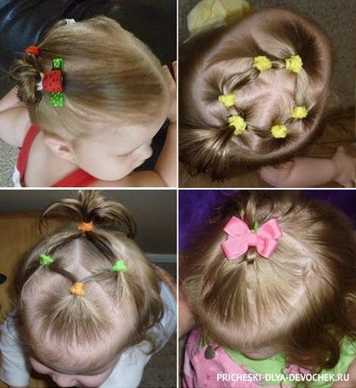 Прическа для маленьких девочек на короткие волосы