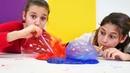 Slime şişirme oyunu! Ayşe ve Asu Ela ile yeni oyun!