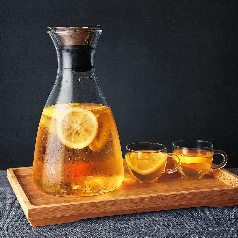 Стеклянный графин для напитков с фильтром -