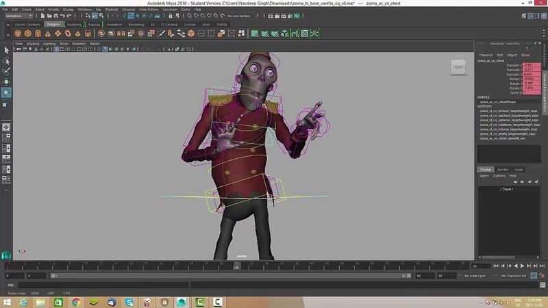 Zombie Walk Cycle Tutorial / Nav Animator
