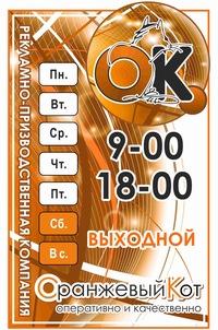Оранжевый кот тамбов типография