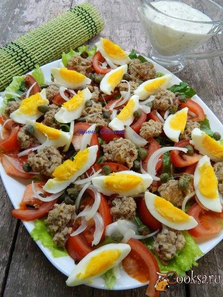 Простой в приготовлении и вкусный салатик!