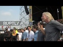 LIVE Richard Branson holds press conference ahead of aid concert at Colombia Venezuela border