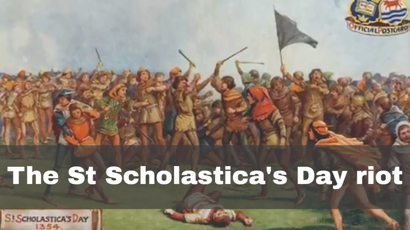 10th February 1355: St Scholastica's Day Riot began in Oxford between 'town and gown'
