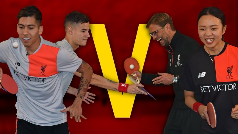 Coutinho Firmino Vs Klopp Liu | Year of the Rooster Table Tennis Challenge