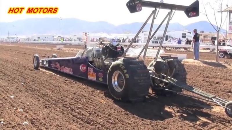 100 км/ч за 0,6 секунды 8500-10000 лошадиных сил -Top Fuel Sand Dragster Racing