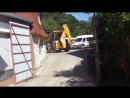 Ювелирная работа тракториста на JCB 4CX в стесненных условиях - steh39