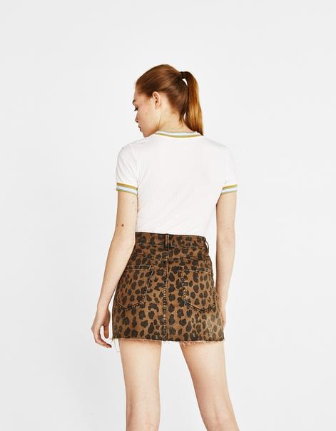 Мини-юбка с леопардовым принтом