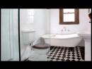 Черно-белая ванная комната_ шик и оригинальность