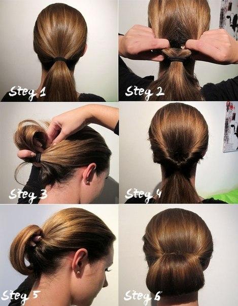 Причёска на каждый день своими руками поэтапно фото