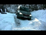 Subaru Outback off road, 4x4 deep snow extreme