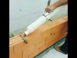Самодельный инструмент из труб для подачи раствора