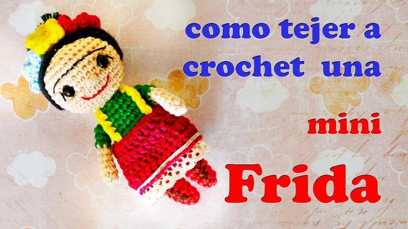 Mini Frida amigurumi a crochet parte 1