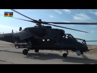 Тактические летные учения вертолетных дивизий ВВС Азербайджана - 17.08.2018