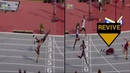 Infinite Tucker Does Crazy Superman Dive To Win The Gold!- Mens 400m Hurdle