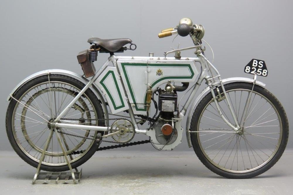 Старинный мотоцикл Rex 1904