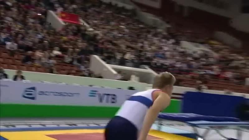 Vadim Afanasev at the 2018 Men's Tumbling World Championships
