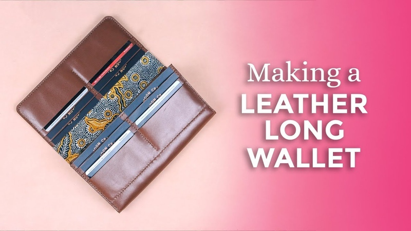 Making a Leather Long Wallet Fits Phone Cash Coins Cards Week 48 52