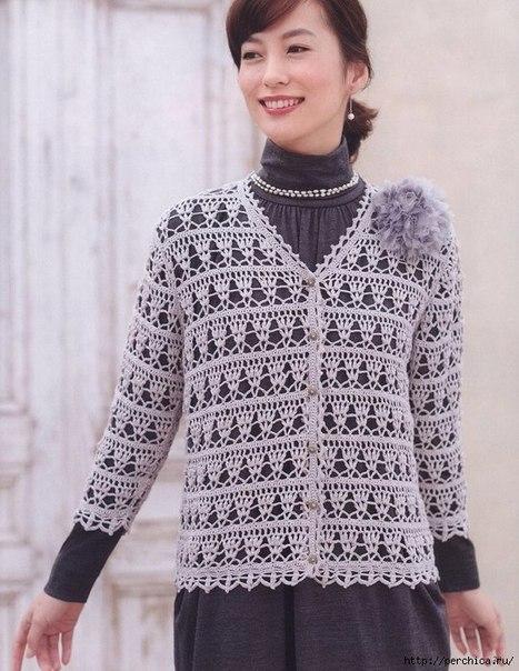 Ажурные модели крючком из Журнала Let s Knit Series… (8 фото)