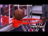Basketball gets stuck on the Rim