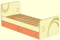 Кровать с выкатными ящиками - Фруттис - Мебель в Томске.