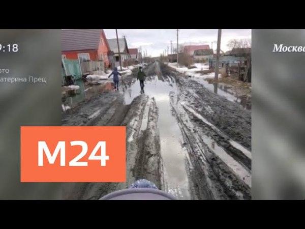 Жительницу Омской области обвинили в экстремизме за пост о плохих дорогах - Москва 24