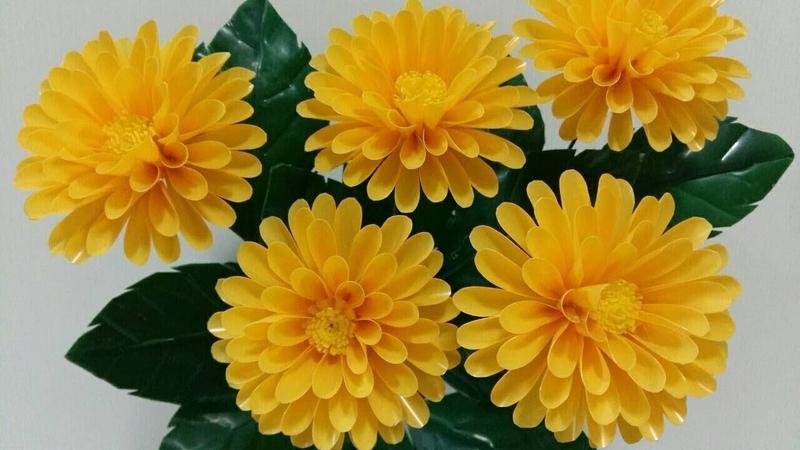 ดอกไม้จากหลอด ดอกรักแรกพบ รักเร่ จากหลอ