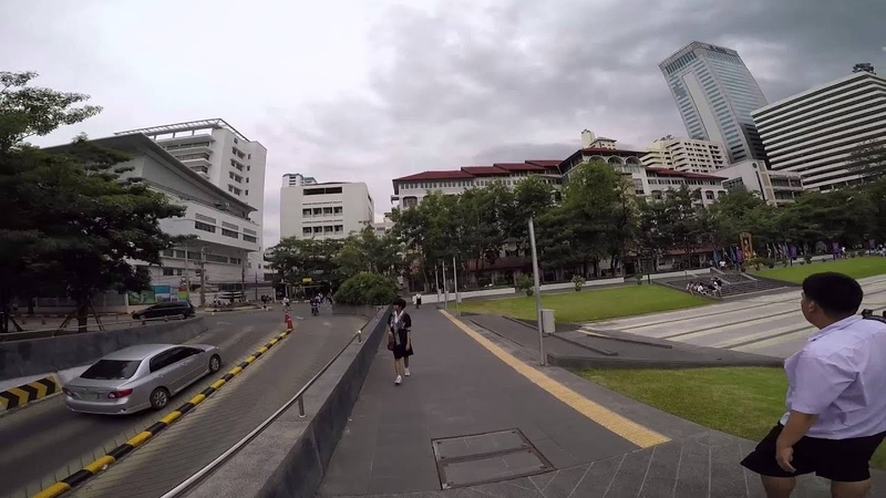 GoPro HERO4 skate cruising at Srinakharinwirot University in Bangkok
