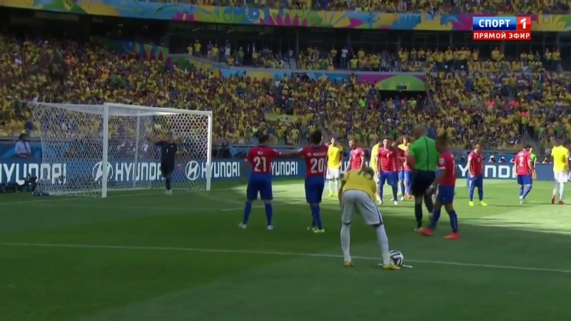 28.06.2014. 19:45. Футбол. Чемпионат мира. 1/8 финала. Бразилия - Чили