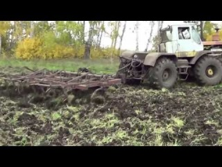 Культивация по стерне трактор ХТЗ Т-150К культиватор КПЭ-3.8