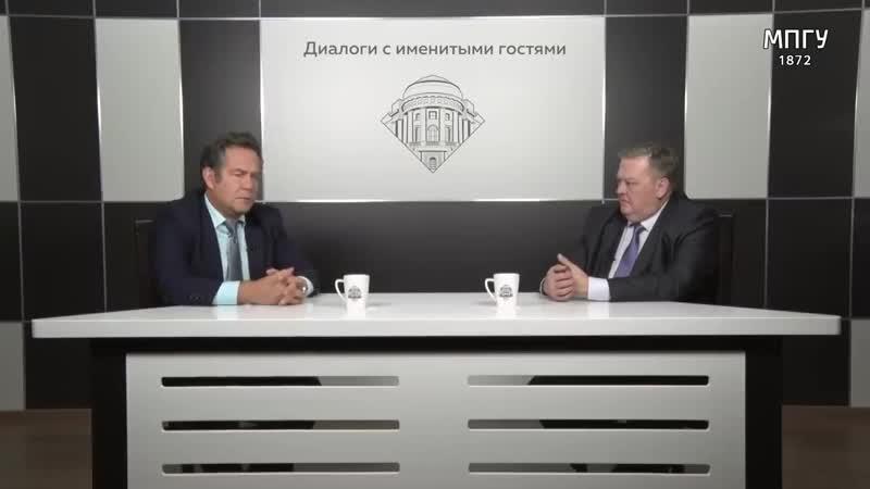 Н.Н.Платошкин и Е.Ю.Спицын в студии МПГУ. Землей не торгуем, с нацистами не друж
