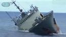 Огромный КОРАБЛЬ ТОНЕТ в море Как тонет Большой Корабль