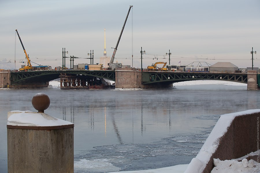 ремонт реконструкция Дворцовый мост