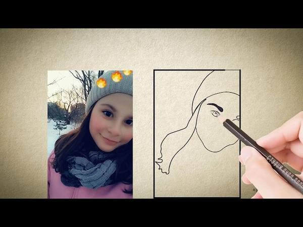 Портрет Лизе   Рисованный видео портрет   Рисованное видео