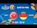 LIVE 🔴 Turkey v Germany Quarter Finals FIBA U20 European Championship 2018