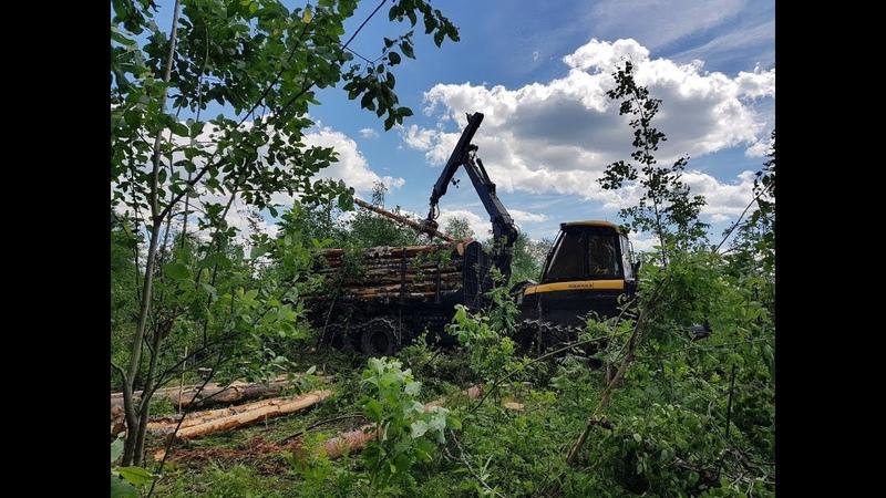Заготовка и вывозка леса [часть 2]. КамАЗ, УРАЛ, Ponsse, Doosan.