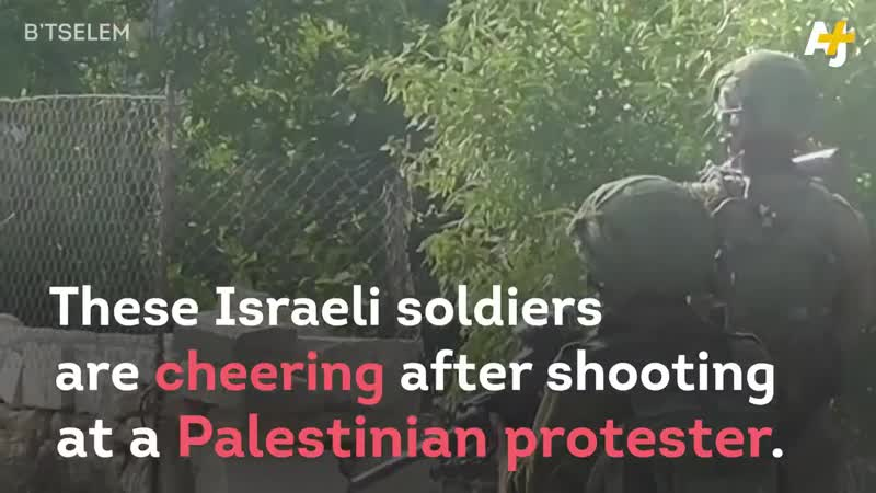 👍Congratulations Israel for bringing up animals who celebrate hunting shooting unarmed Palesti