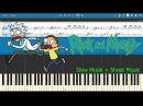 Rick and Morty - Theme Song Slow Sheet Music Piano Tutorial