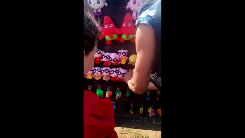 поля дочь сбивает шарики