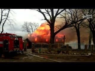 Кобринский район: В деревне Леликово сгорела церковь