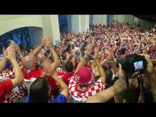 Хорватцы, которые заняли почетное 2-ое место (Лужники, спустя 2 часа, после окончания матча) чм2018